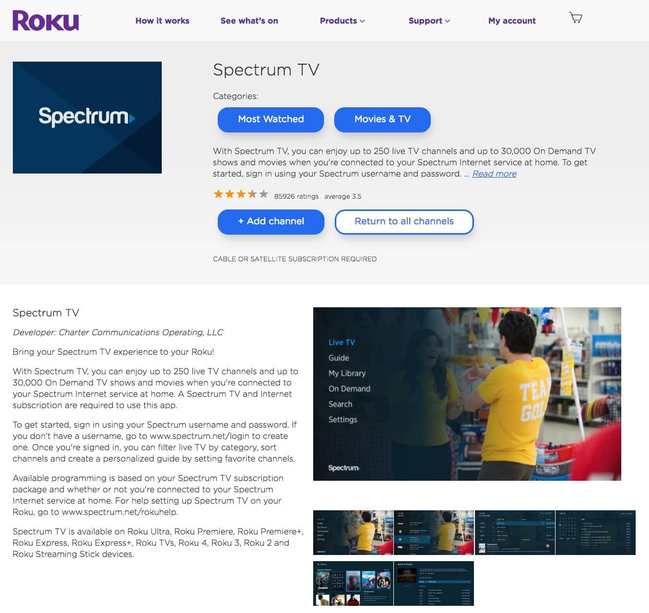 Spectrum TV - Dave Chung - Content Strategist & UX Writer in
