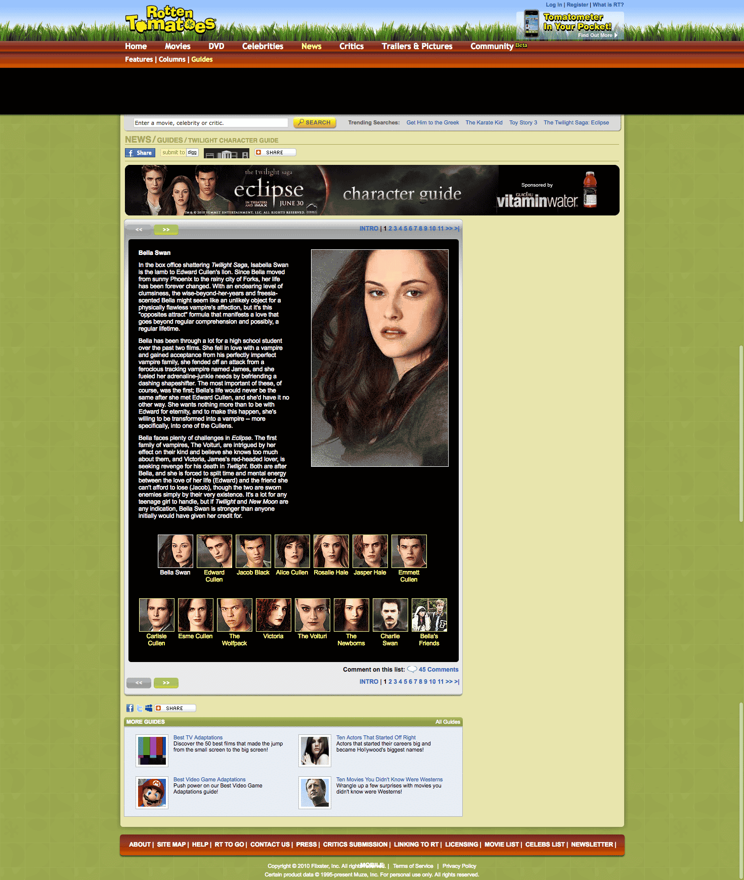 Rotten Tomatoes: Twilight Character Guide
