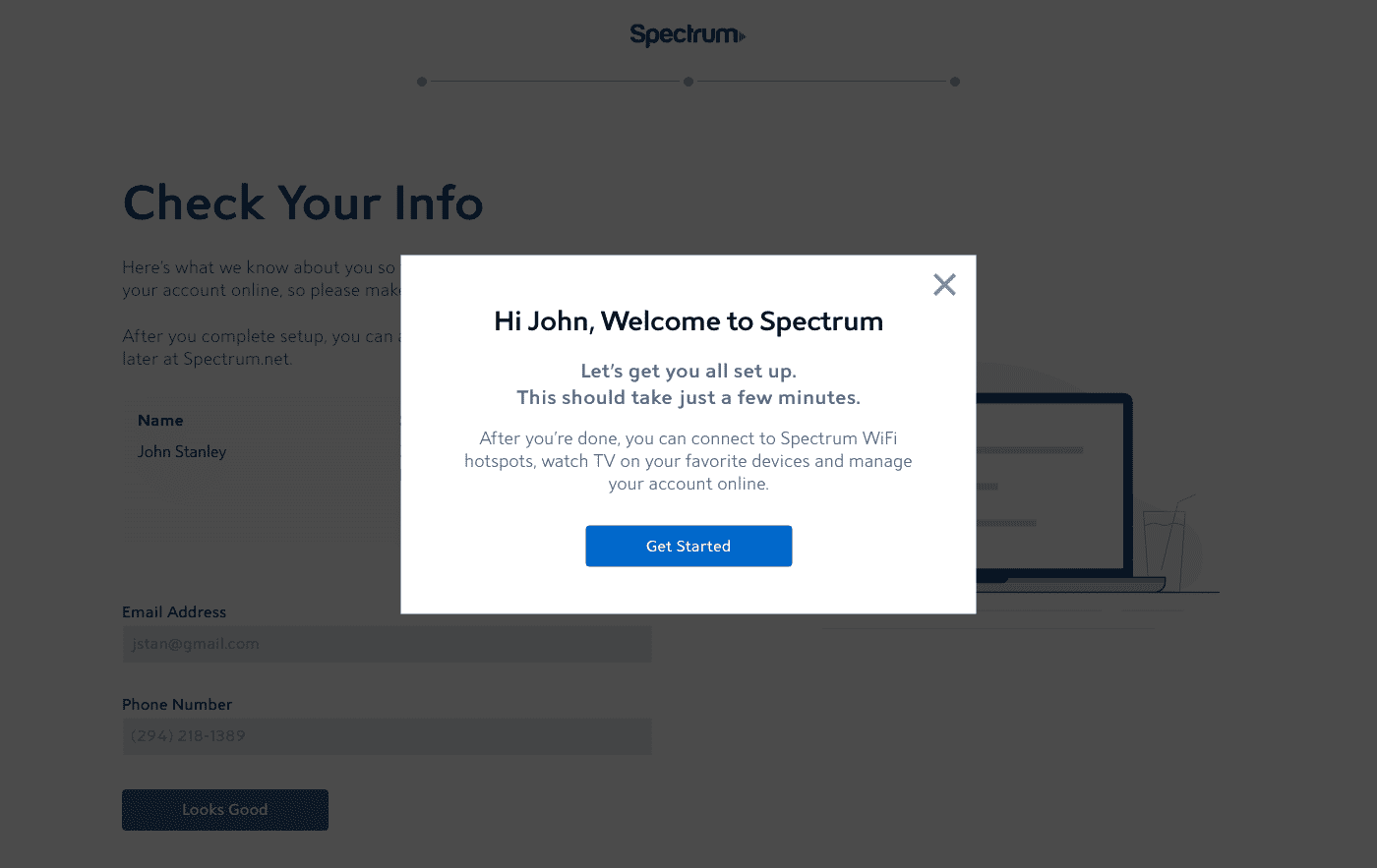 Spectrum: New Customer Onboarding - Dave Chung - Content
